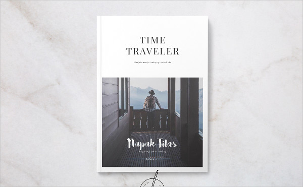 Time Traveler Magazine Template