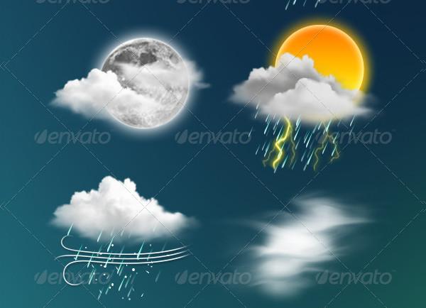 Transparent Weather Icon Suite