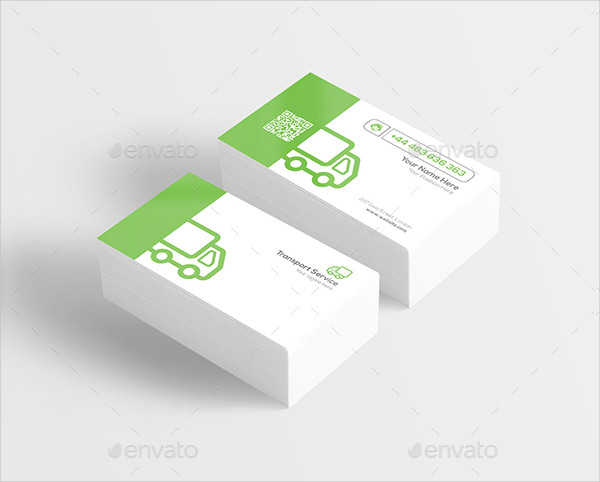Transport Service Business Card Template