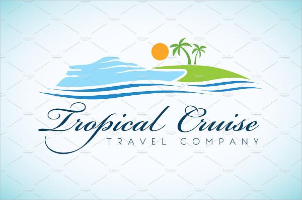Tropical Travel Company Logo Template