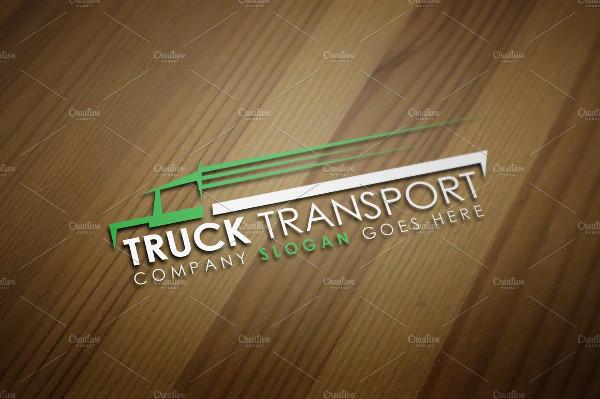 Truck Transport Logo Template