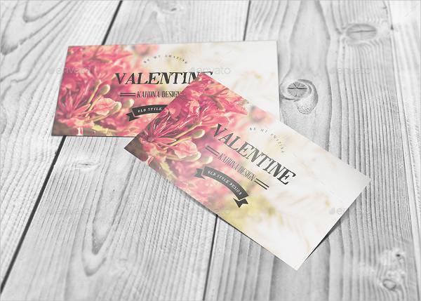 Valentine Postcard Mockup