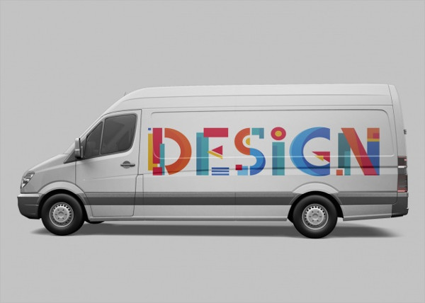Van Mock-Up Design Free PSD