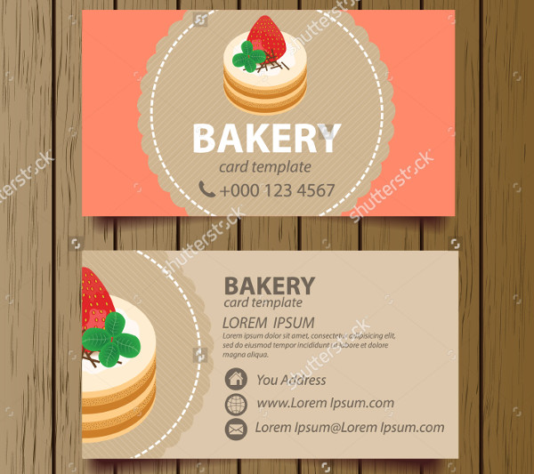 Business Card Template for Bakery Business
