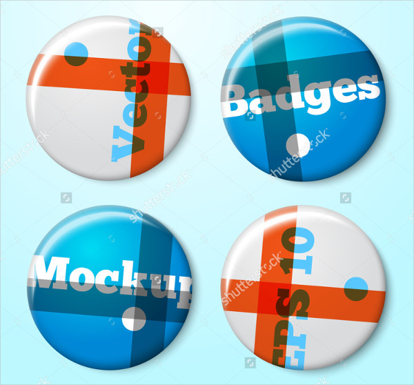 Vector Pin Button Badges Mockup