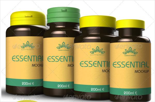 Vitamin and Pill Bottles Mockup