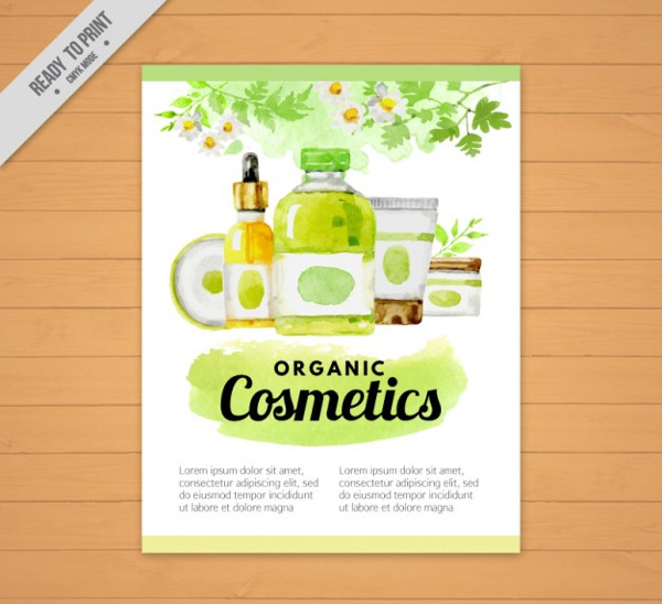 Free Watercolor Beauty Salon Products Flyer Template