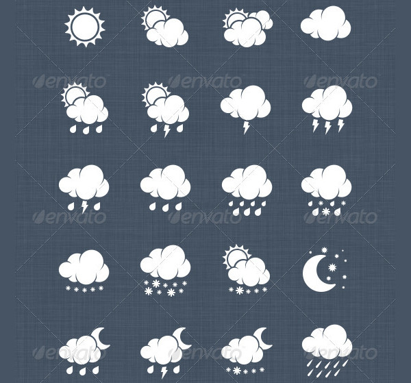 Professionally Made Weather Illustration Icons