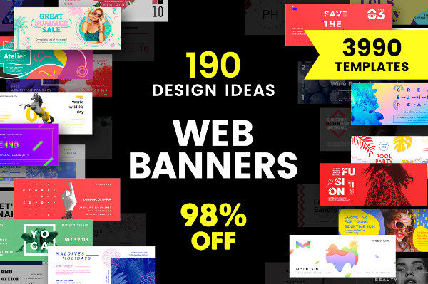 Web Banner Design Templates Bundle