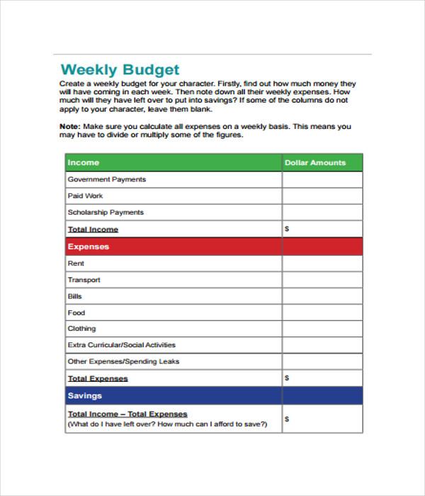 21  budget templates
