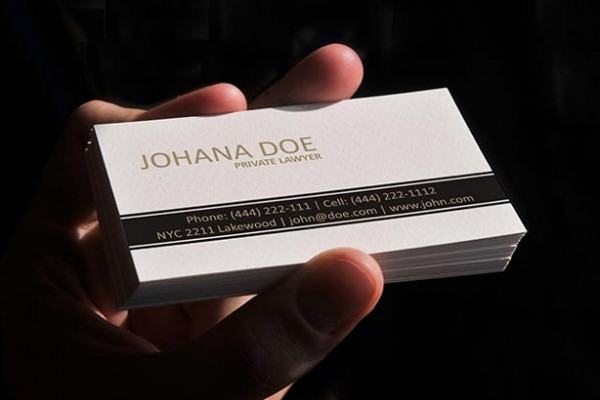 Lawyer White Design Business Card Template Free