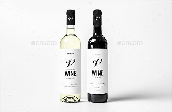 Unique Wine Bottle Mockup