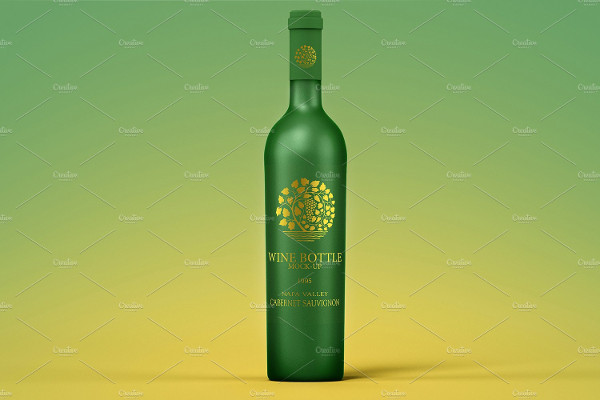 Professional Wine Bottle Mockup