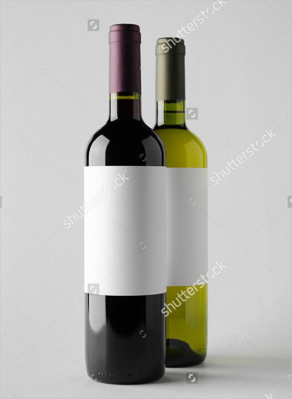 Wine Bottle Mock-Up with Blank Label
