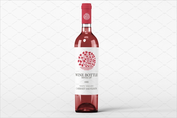 Wine Bottle Presentation Mockup