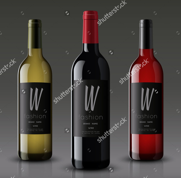 Wine Bottle Vector Mockup