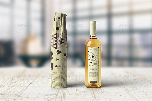 Wine Bottle Wrapping Mock-Up