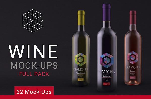 Wine Mock-Up Full Pack