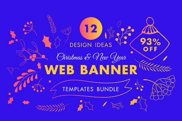 Winter Web Banner Design Templates Bundle