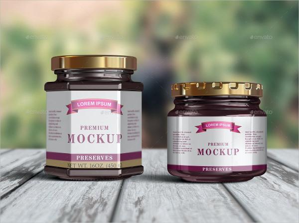 10 Jam & Honey Jars Mockup