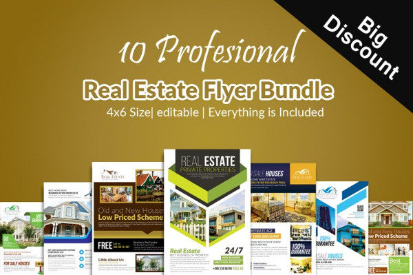 10 Real Estate Flyer Bundle