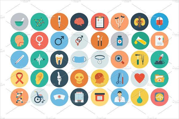100+ Medical Flat Icons