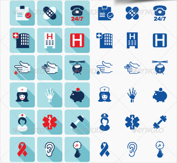 105 Medical Vector Icons Set