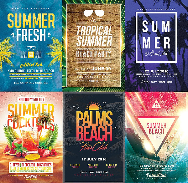 15 Summer Flyers Bundle