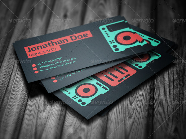 2-Side Business Card Template for professional DJ's