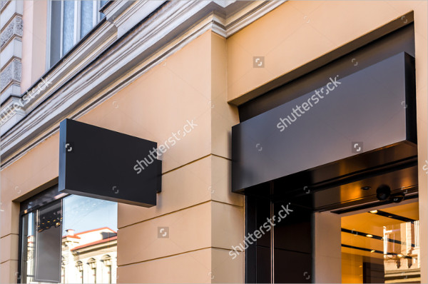 2 Sign Mock-Ups of Restaurant