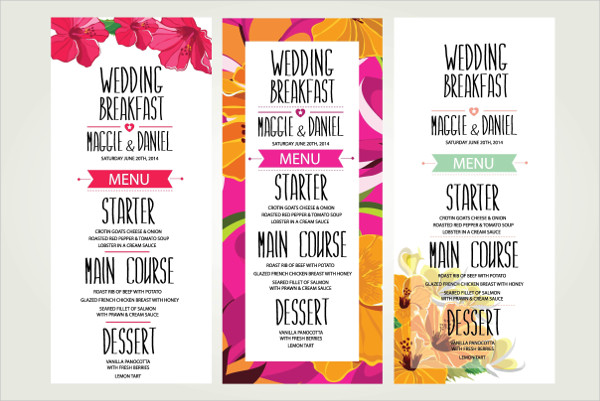 3 Wedding Dinner Invitations