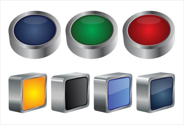 3D Free Buttons Graphics