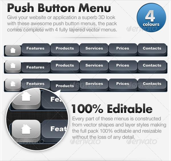 3D Push Button Menu