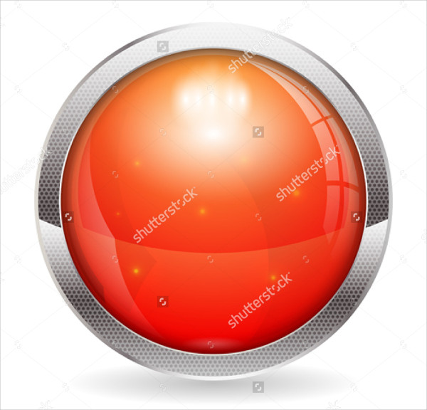 3D Red Alarm Button