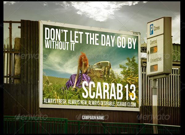 4 Custom Billboard Mockups PSD