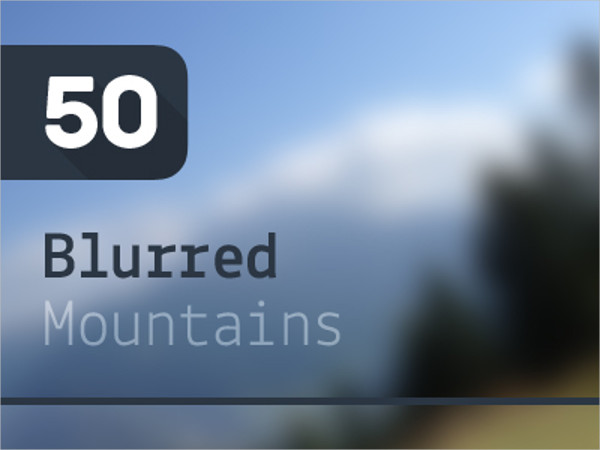 50 Blurred Mountains Backgrounds Pack