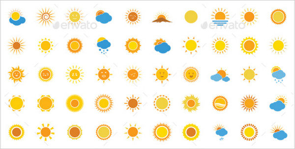 550 Sun Icons Pack
