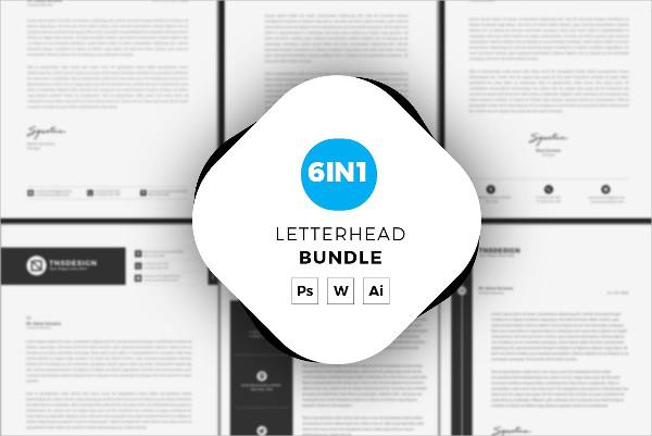 6 Letterhead Templates Bundle