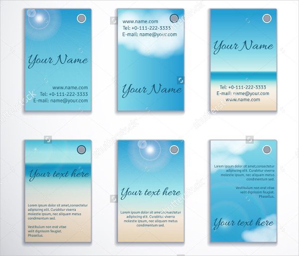 6 Vertical Clouds Business Card