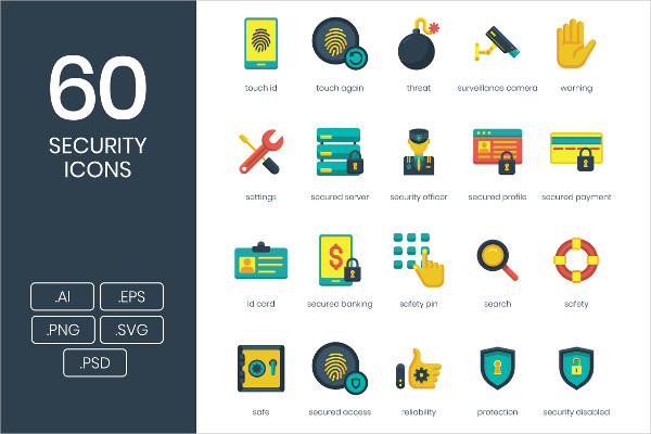 60 Cyber Security Icons