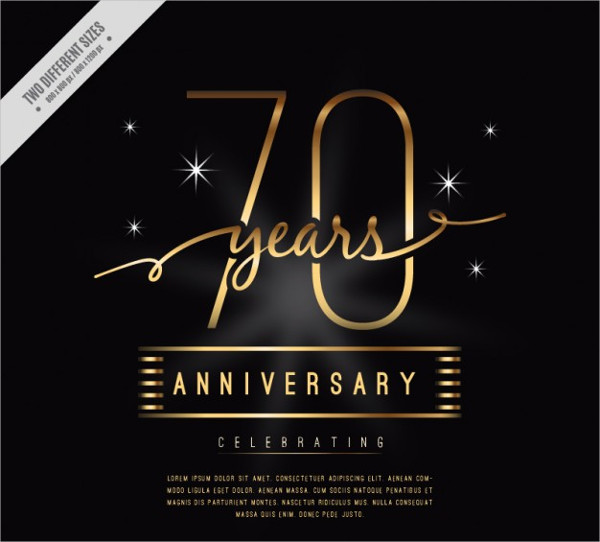 70 Years Anniversary Invitation Template Free