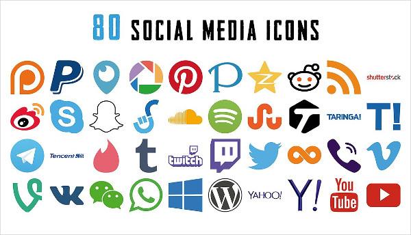 80 Social Media Icons Mega Pack