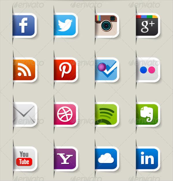 80 Social Media Web Icons