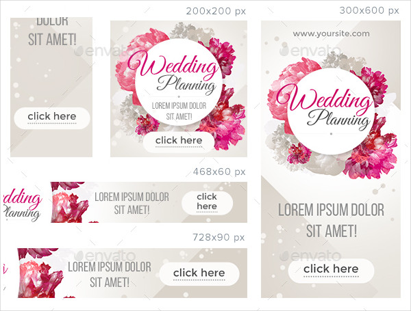 A Set of Wedding Planner Banners
