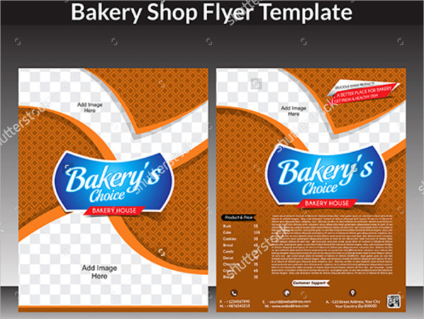 Abstract Bakery Shop Flyer Template