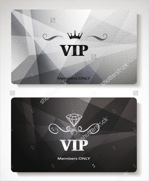 Abstract VIP Cards with Abstract Background