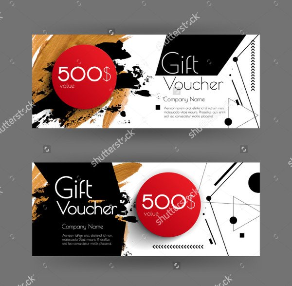 Abstract Gift Voucher Template