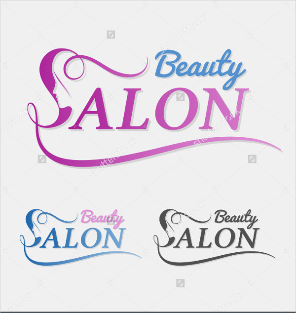 Abstract Salon Design Logo