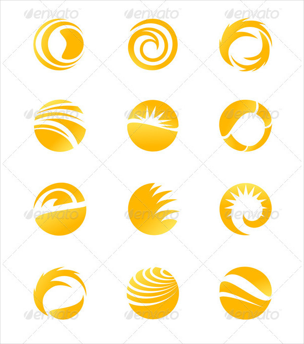 18 Sun Shining Icons Vector