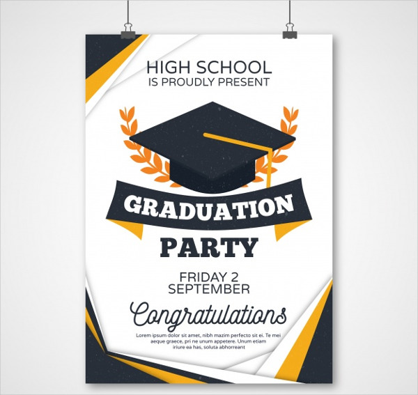 Graduation Party Poster Free Download